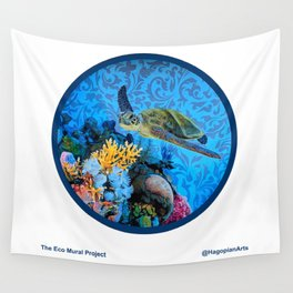 Eco Mural Project 1: Kauai Coral Reef Life Wall Tapestry