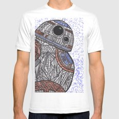 BB-8 Zentangle 2X-LARGE White Mens Fitted Tee