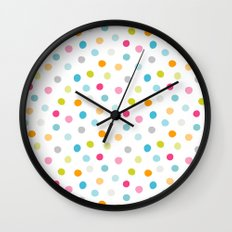 Chickweed Mid Dots Wall Clock