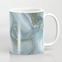 Precious Teal Blue Gemstone Agate Collage Coffee Mug