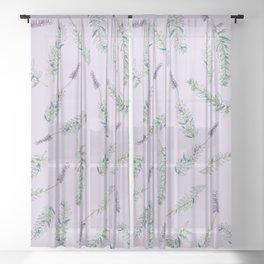 Lavender, Illustration Sheer Curtain
