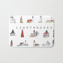Collection of Lighthouses around the World Bath Mat