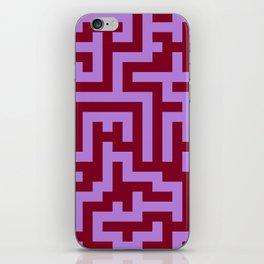 Lavender Violet and Burgundy Red Labyrinth iPhone Skin