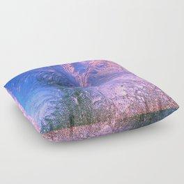 Ice Fractals Floor Pillow