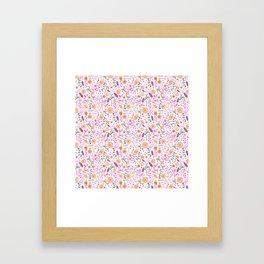 Halloween Flowers Bright Framed Art Print