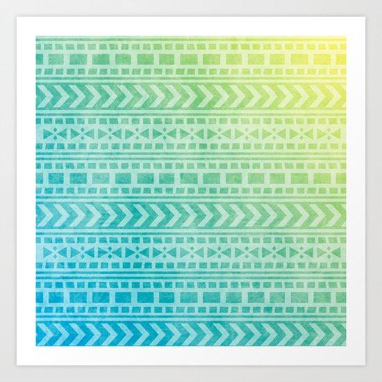 Aztec Pattern 07 Art Print