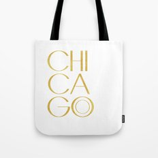 Chicago Print,City Print,Home Decor,Wall artwork,Chicago Poster,Typography Print,Gold Typography,Art Tote Bag
