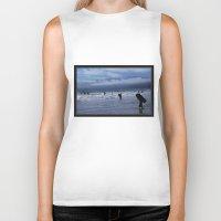 santa monica Biker Tanks featuring Santa Monica Surf by Willinok