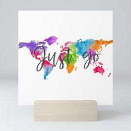 Just go Mini Art Print