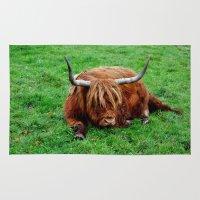 buffalo Area & Throw Rugs featuring buffalo by  Agostino Lo Coco