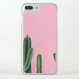 Vintage Cactus Clear iPhone Case