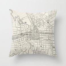 Vintage Map of Syracuse New York (1873) Throw Pillow
