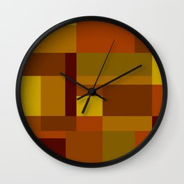 Abstract #385 Golden Harvest Wall Clock