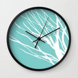 Cyan Blues Wall Clock