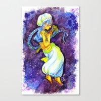 aladdin Canvas Prints featuring Aladdin by Mottinthepot