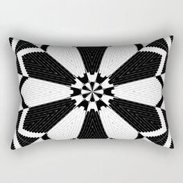 Black and White Floral Pattern Design Rectangular Pillow
