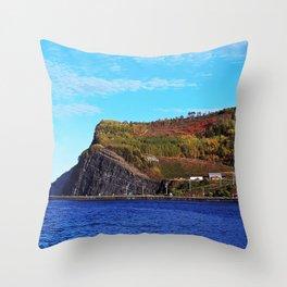 Gros Morne Coastal Village Throw Pillow