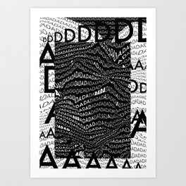 History of Art in Black and White. DADA Art Print