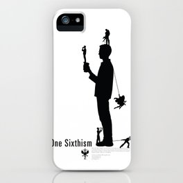 One Sixth Ism (Black Statue) iPhone Case