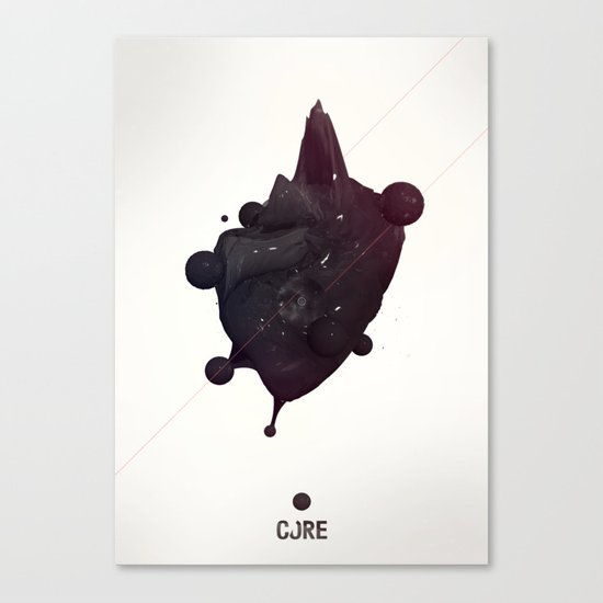 CORE Black 2 Canvas Print