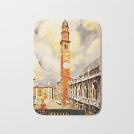 Vintage Vicenza Italy Travel Bath Mat