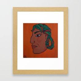 Naive Face 7 Framed Art Print