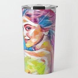 Dipika Padukone (Creative Illustration Art) Travel Mug