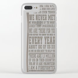 I Am A Firefighter Clear iPhone Case