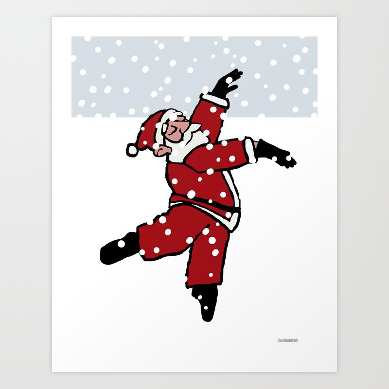 Dancing Santa 10 Art Print By Dajellah Society6