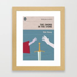 The Sword in the Stone - Movie Poster - Penguin Book version Framed Art Print