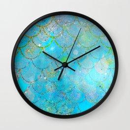 Mermaid Shimmer Wall Clock