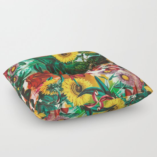 Exotic Floor Pillows : Multicolor Exotic Pattern Floor Pillow by Burcu Korkmazyurek Society6