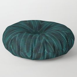 Teal Forest Green Snowflake Floor Pillow