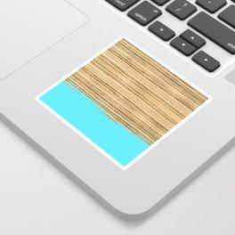 Dipped Wood - Zebrawood Sticker