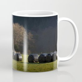 Black hay bales Coffee Mug