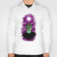 frankenstein Hoodies featuring Frankenstein  by JT Digital Art
