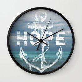 Hope Anchor Wall Clock