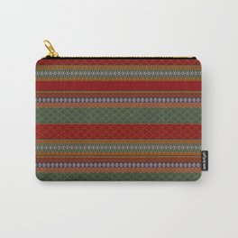 Traditional Romanian embroidery pixel Carry-All Pouch