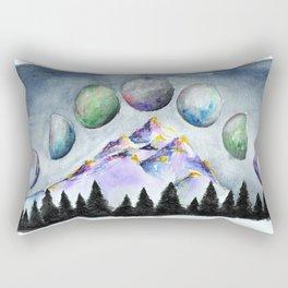 Moon Phases Rectangular Pillow