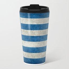 Greek Flag - vintage retro style Travel Mug