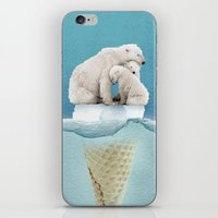 ice iPhone & iPod Skins featuring polar ice cream cap 02 by Vin Zzep