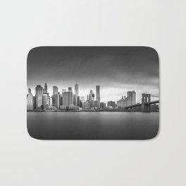 Monochrome panorama of Manhattan Bath Mat