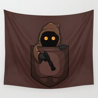pocket Wall Tapestries featuring Pocket Jawa by RebelArtCollective