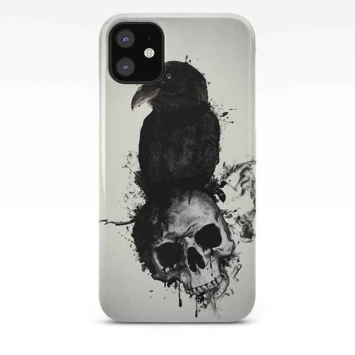 Skull and Raven iphone 11 case