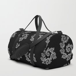 Dancing flowers in black and white Duffle Bag