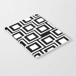 Black and White Squares Pattern 02 Notebook