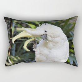 Sulfur-Crested Cockatoo Salutes the Photographer Rectangular Pillow