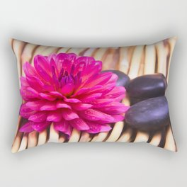 Zen Stones And Dahlia Rectangular Pillow