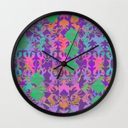 Baroque my world Purple Wall Clock
