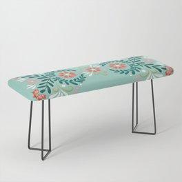 Floral Folk Pattern Bench